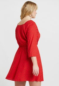 Simply Be - SQUARE NECK TEA DRESS - Blousejurk - red - 2
