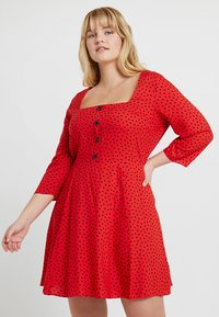 Simply Be - SQUARE NECK TEA DRESS - Blousejurk - red - 0