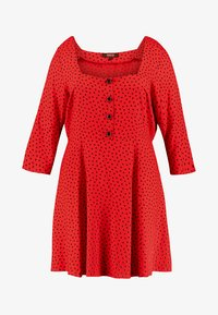 Simply Be - SQUARE NECK TEA DRESS - Blousejurk - red - 3