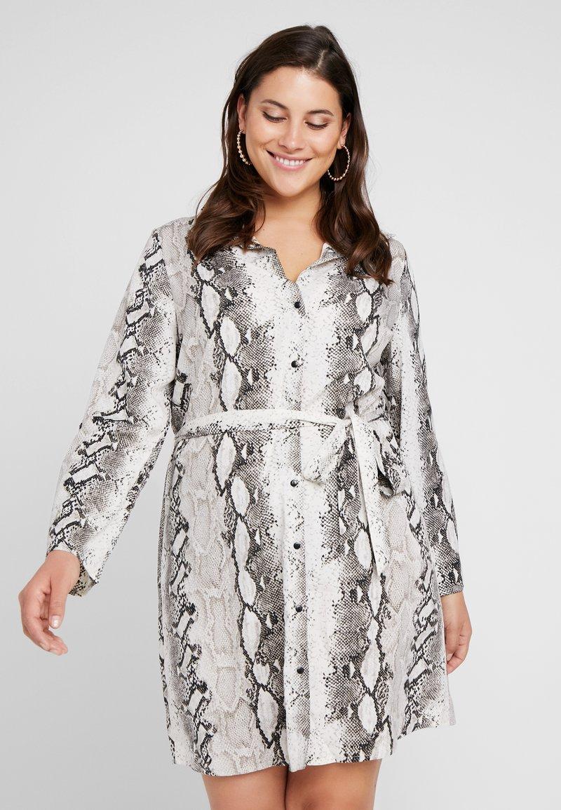 Simply Be - SNAKE PRINT DRESS - Shirt dress - offwhite