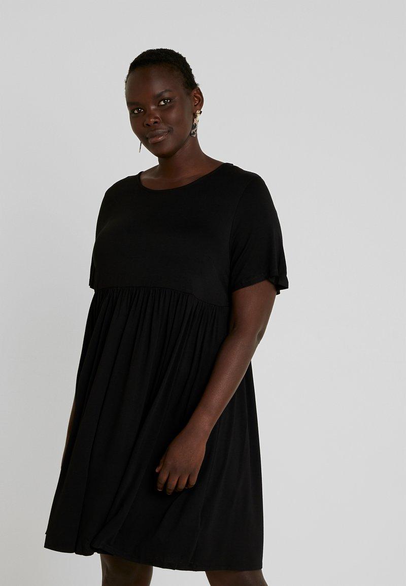 Simply Be - ANGLE SLEEVE SMOCK DRESS - Denní šaty - black