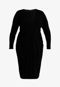 Simply Be - PLUNGE MIDI DRESS - Denní šaty - black - 5