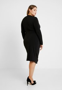 Simply Be - PLUNGE MIDI DRESS - Denní šaty - black - 3