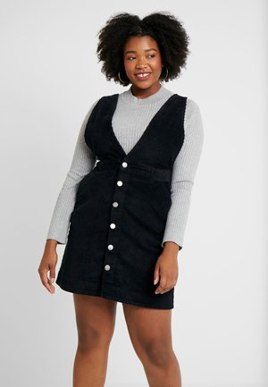 DEEP V PINAFORE DRESS - Robe d'été - black