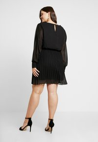 Simply Be - PLEATED SKIRT DRESS - Day dress - black - 2