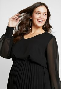 Simply Be - PLEATED SKIRT DRESS - Day dress - black - 4