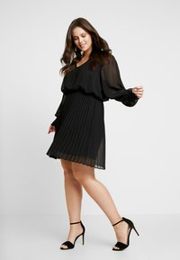 Simply Be - PLEATED SKIRT DRESS - Day dress - black - 1