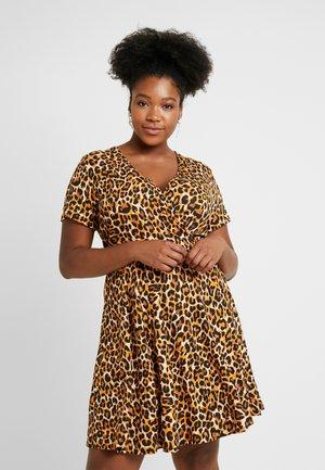 SLEEVE SKATER - Jersey dress - multi-coloured