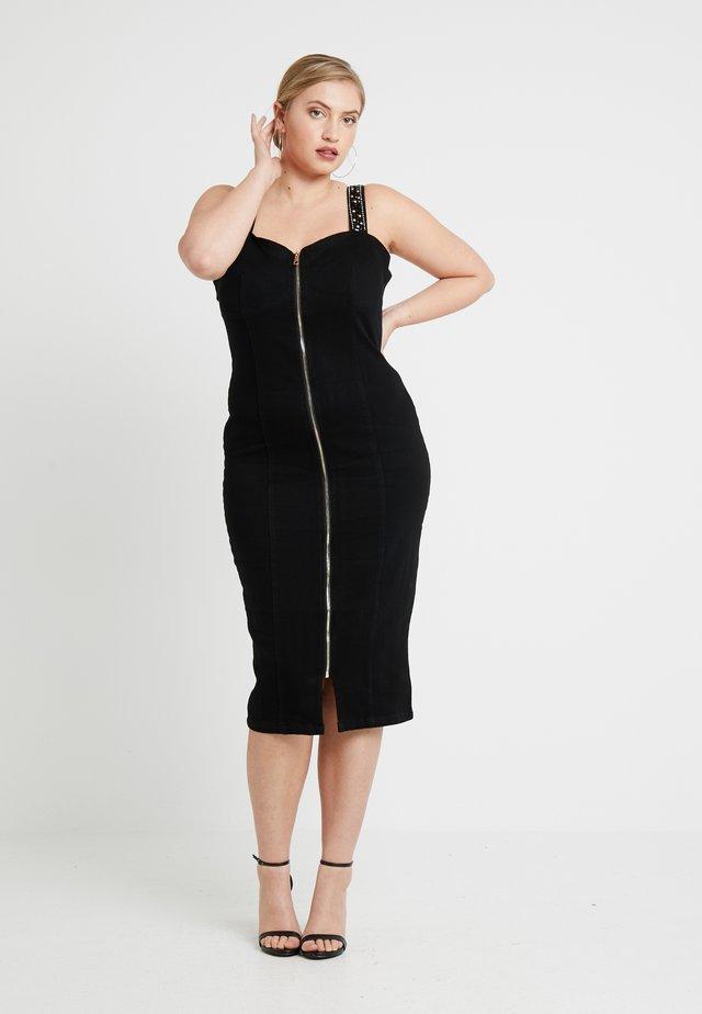 WAY EMBELLISHED STRAP DRESS - Cocktailkjoler / festkjoler - black