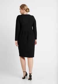 Simply Be - GLITTER MIDI - Shift dress - black - 3