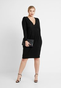 Simply Be - GLITTER MIDI - Shift dress - black - 2