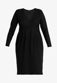 Simply Be - GLITTER MIDI - Shift dress - black - 4