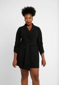 Simply Be - BLAZER DRESS - Jerseyjurk - black - 0
