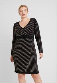Simply Be - BODYCON STRIPE HOTFIX DRESS - Shift dress - rose gold - 0
