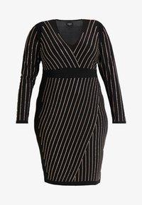 Simply Be - BODYCON STRIPE HOTFIX DRESS - Shift dress - rose gold - 5