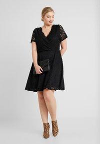 Simply Be - SKATER - Cocktailkleid/festliches Kleid - black - 2