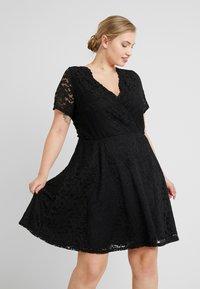 Simply Be - SKATER - Cocktailkleid/festliches Kleid - black - 0