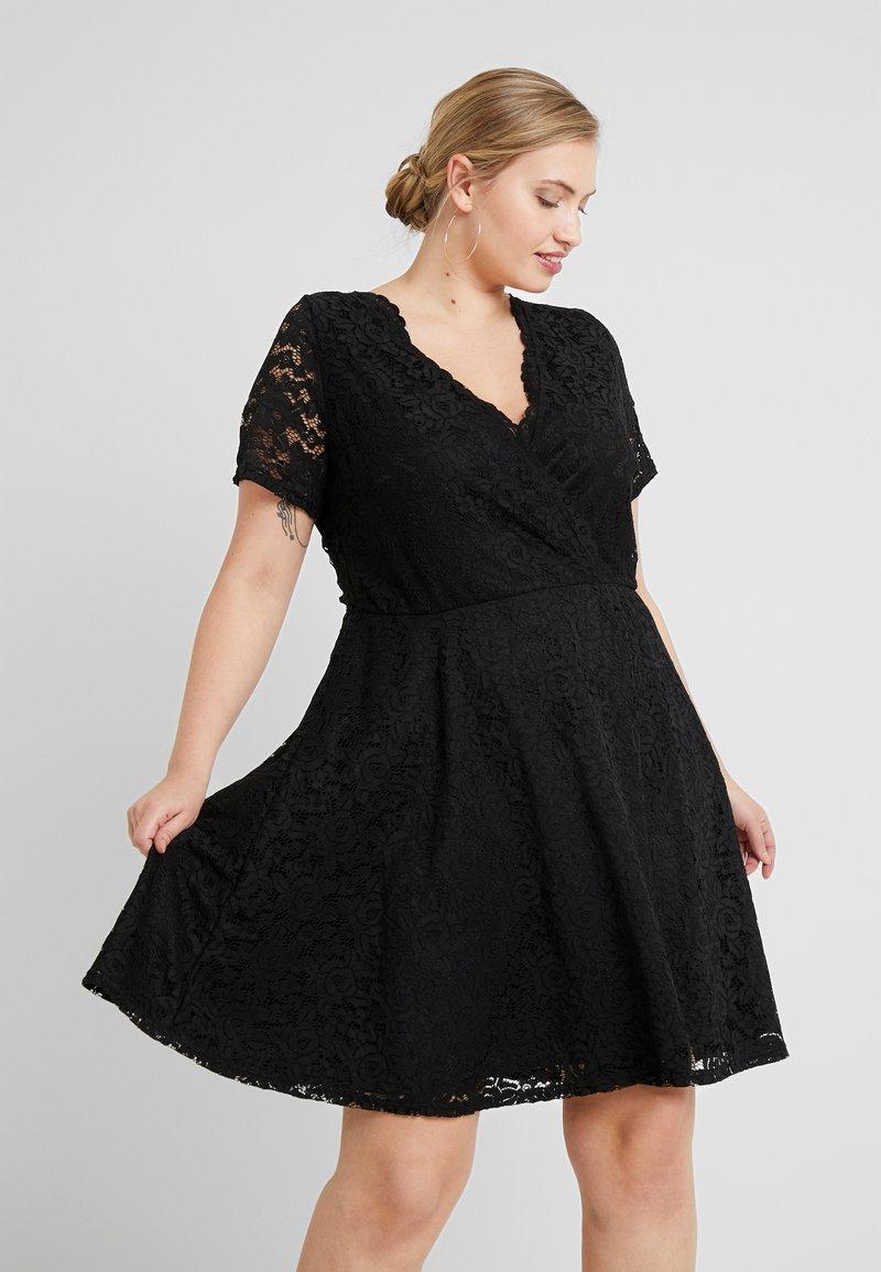 Simply Be - SKATER - Cocktailkleid/festliches Kleid - black