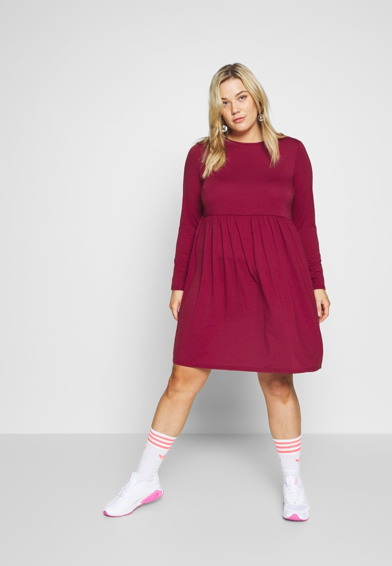 Simply Be - SOLID SMOCK - Jerseykjole - wine
