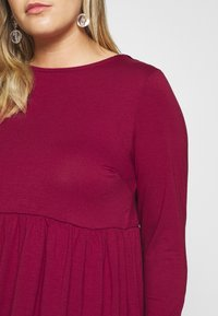 Simply Be - SOLID SMOCK - Jerseykjole - wine - 4