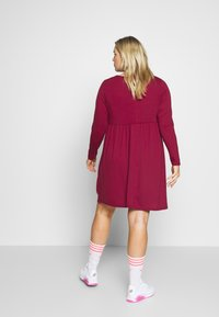 Simply Be - SOLID SMOCK - Jerseykjole - wine - 2