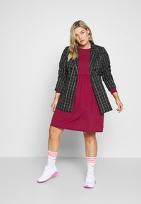 Simply Be - SOLID SMOCK - Jerseykjole - wine - 1