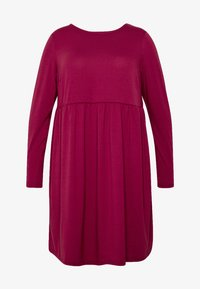 Simply Be - SOLID SMOCK - Jerseykjole - wine - 3