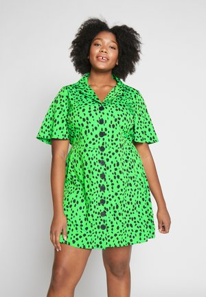BUTTON THROUGH DRESS - Blousejurk - green