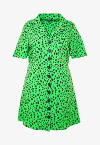 Simply Be - BUTTON THROUGH DRESS - Skjortekjole - green - 3