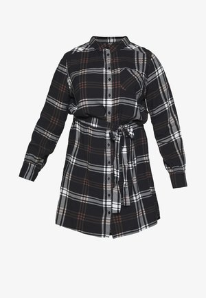 Košilové šaty - black/brown check