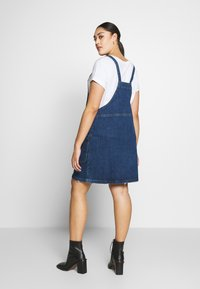 Simply Be - ZIP FRONT PINAFORE DRESS - Denim dress - stonewash - 2