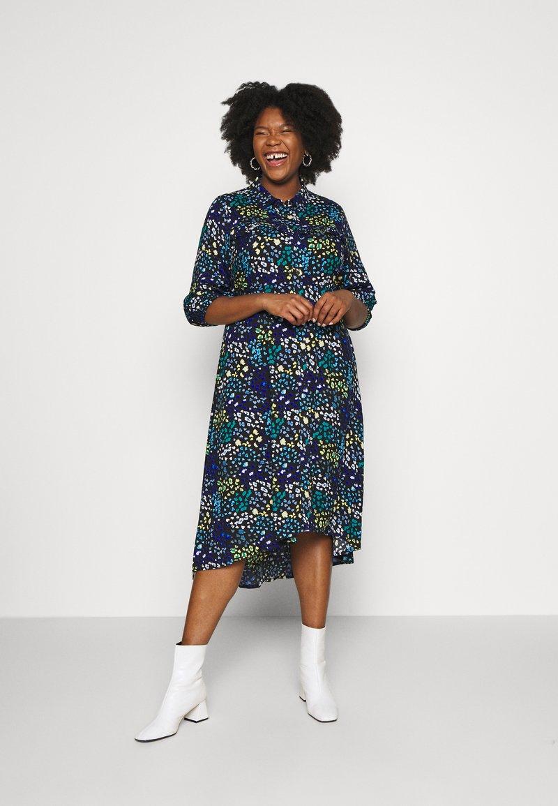Simply Be - LONGLINE DRESS - Košilové šaty - multi-coloured