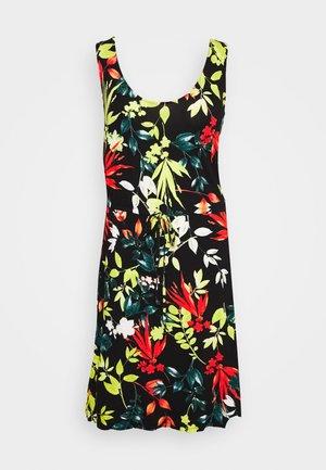 VEST KNEE LENGTH DRESS - Jersey dress - black based summer
