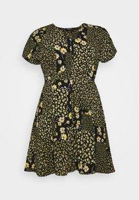Simply Be - BUTTON THROUGH TEA DRESS - Hverdagskjoler - multi-coloured - 3