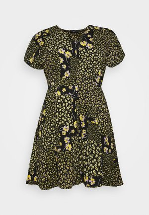 BUTTON THROUGH TEA DRESS - Blousejurk - multi-coloured