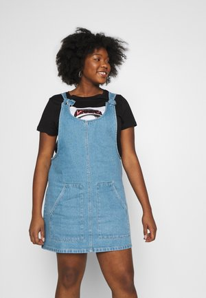 TIE KNOT PINAFORE DRESS - Day dress - stonewash