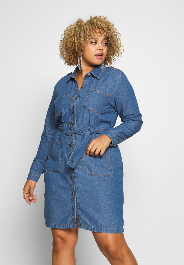 DRESS - Jeanskjole / cowboykjoler - vintage blue