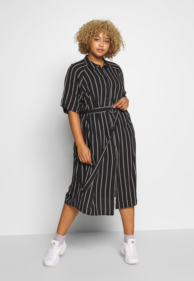 MIDI DRESS - Shirt dress - black