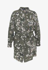 Simply Be - SHIRT DRESS - Skjortekjole - khaki/ivory - 4