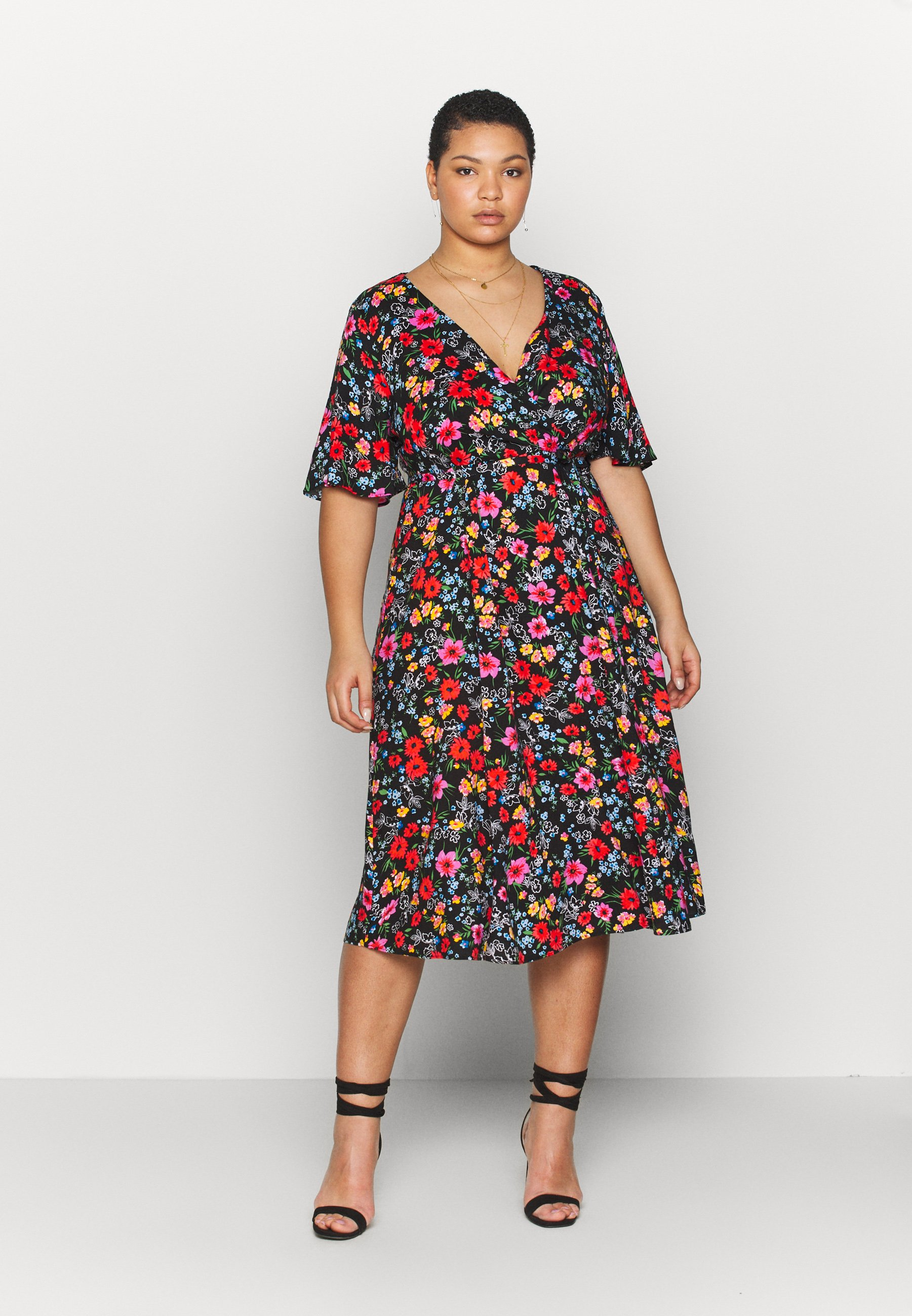 Simply Be FULL SKATER DRESS - Sukienka letnia - multicolor