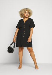 Simply Be - HERRINGBONE DRESS - Robe chemise - black - 1