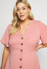 Simply Be - HERRINGBONE DRESS - Košilové šaty - dusky pink - 3