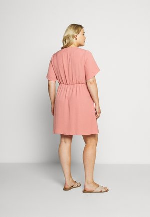 HERRINGBONE DRESS - Paitamekko - dusky pink
