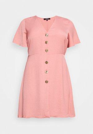 HERRINGBONE DRESS - Blousejurk - dusky pink
