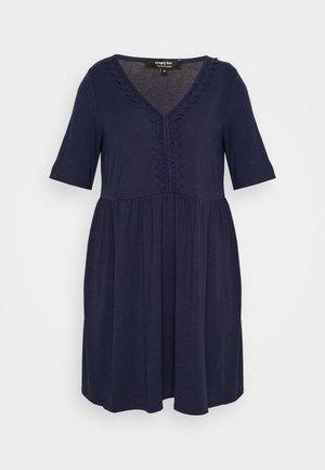 TRIM SWING DRESS - Robe d'été - navy
