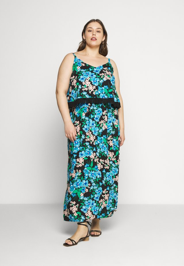DOUBLE LAYER MAXI DRESS - Długa sukienka - green paisley