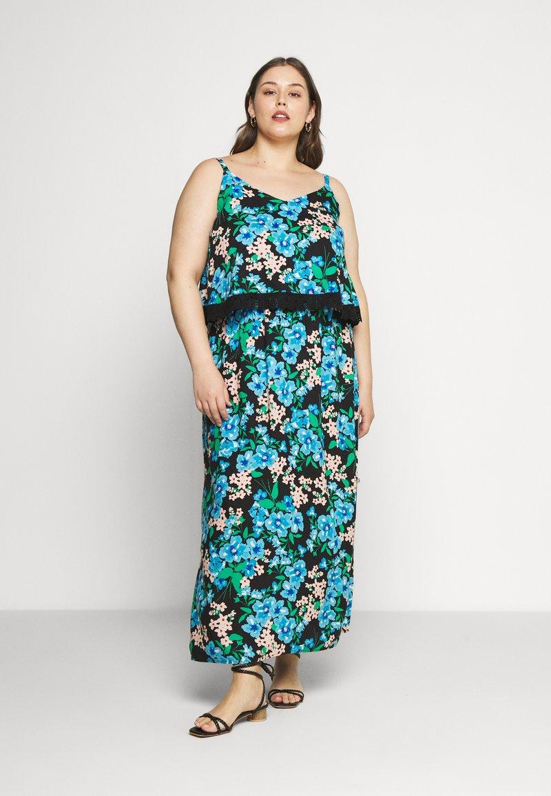 Simply Be - DOUBLE LAYER MAXI DRESS - Maxi šaty - green paisley