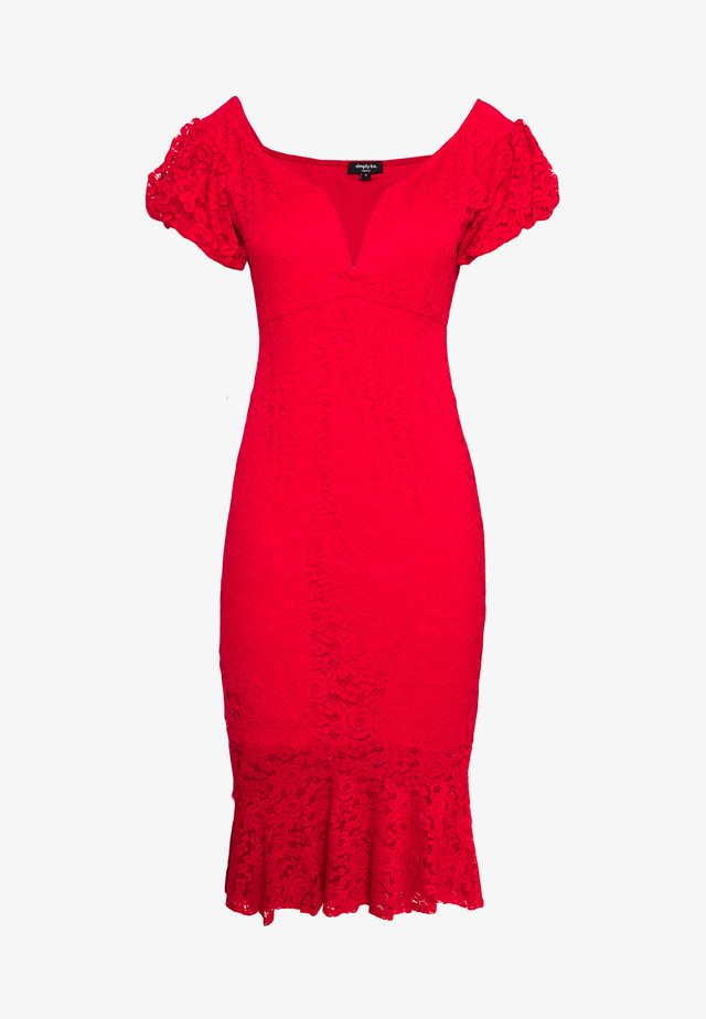 BODYCON DRESS - Cocktailjurk - red