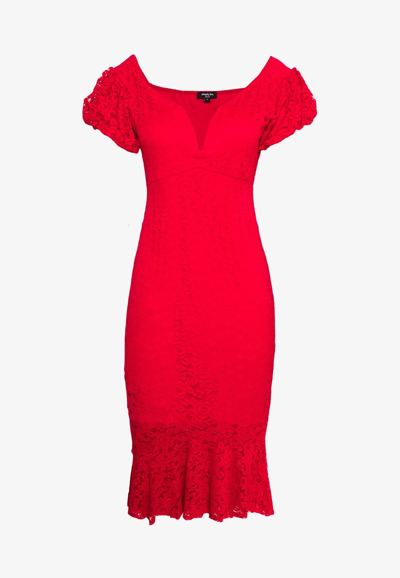 Simply Be - BODYCON DRESS - Cocktailklänning - red