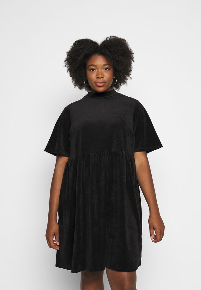 SMOCK DRESS - Kjole - black